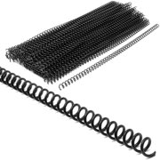100 Pack Black Plastic Comb Binding Spines for Spiral Notebook and Office Supplies, 0.2 in.