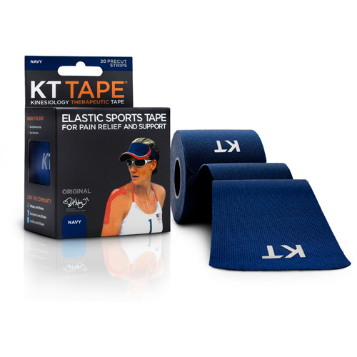 KT TAPE Original, Pre-cut, 20 Strip, Cotton, Blue