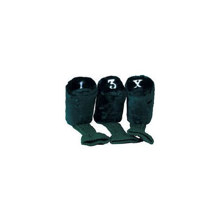 On Course Longneck Headcovers (Black, 3 pack) Golf Club Cover NEW