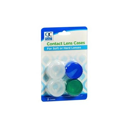 - 4 Pack Quality Choice Economy Contact Lens Case 2 Count Each