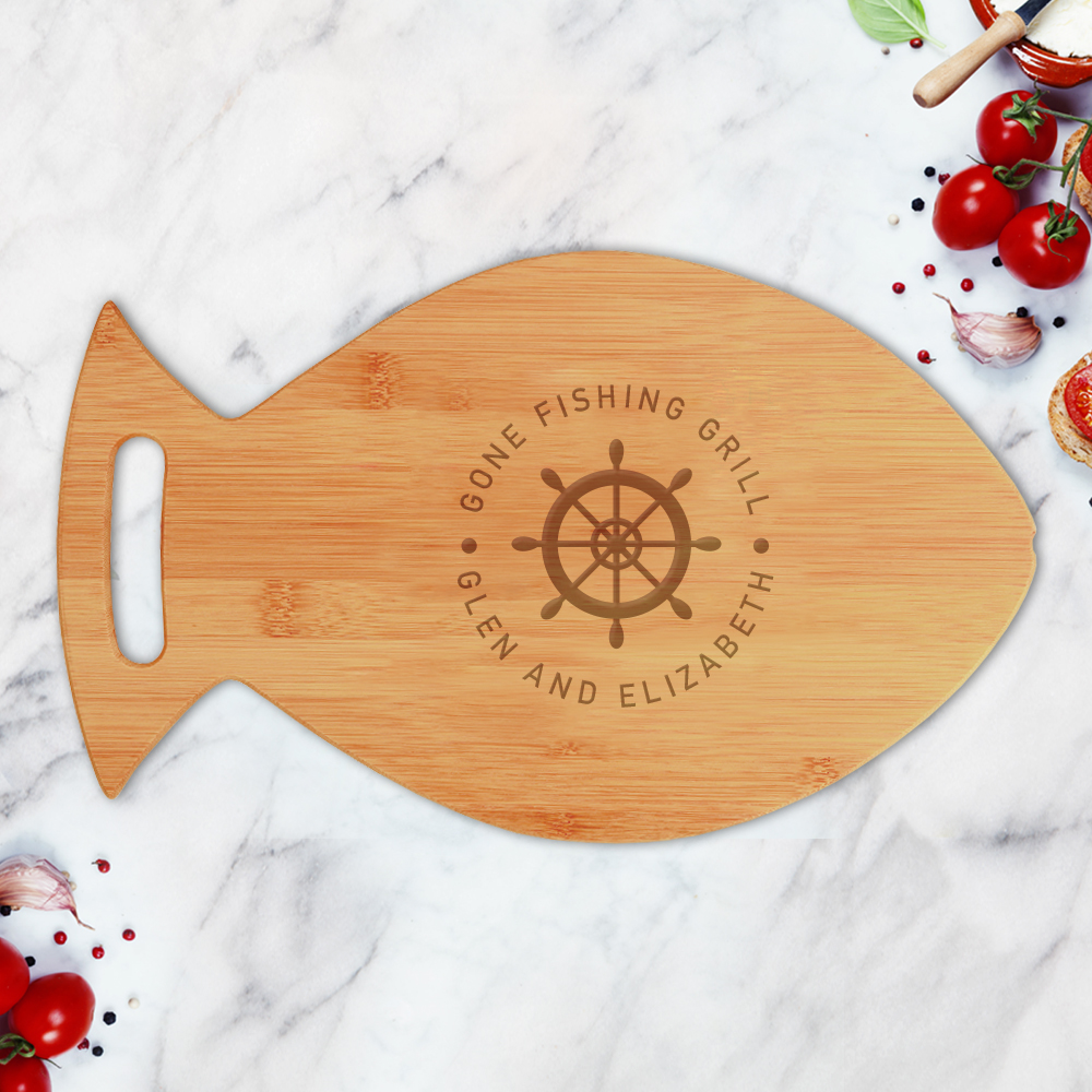 Custom Steering Wheel Fish Shaped Cutting Board
