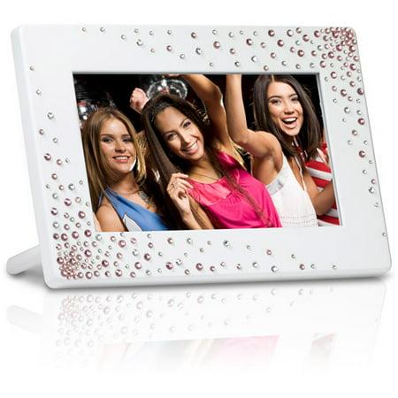 Giinii 7 Digital Picture Frame White Stardust Walmartcom