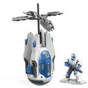 Mega Construx Halo Operation: Ocean Breaker Drop Pod construction set with micro action figures, Building Toys for Kids (58 Pieces)