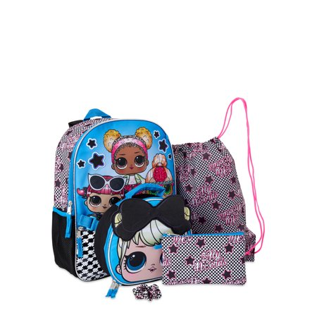 Lol Surprise Glam Squad 5 Piece Backpack Set