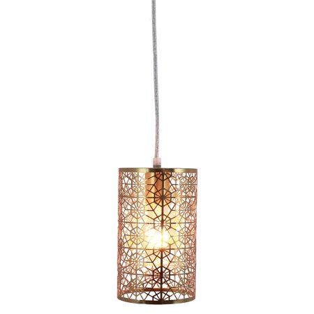 Brass Plated Laser Cut Lucy Pendant Light
