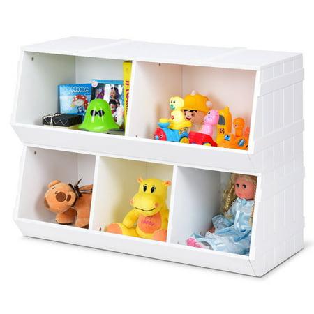 Gymax Kids Toy Box Storage Cabinet