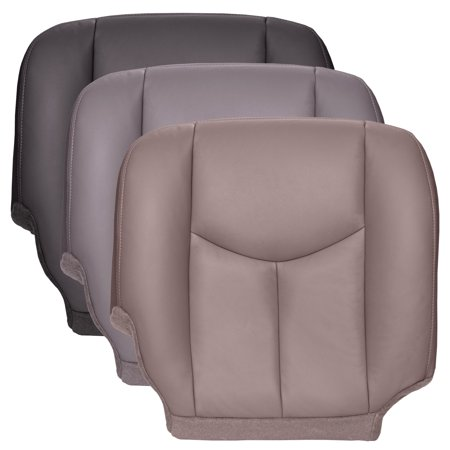 The Seat Shop Silverado Passenger Bottom OEM Fit Leather Seat Cover, Gray ()