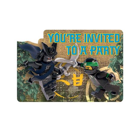 LEGO 'Ninjago Movie' Invitations w/ Envelopes - Lego Birthday Invitations