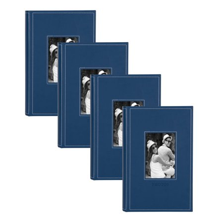 Leather Photo Cover (DesignOvation Debossed Faux Leather Photo Album - Set of 4)