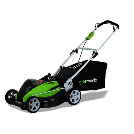 Greenworks 2501302 40V 19  Cordless Lawn Mower  Battery And Charger Sold Separately