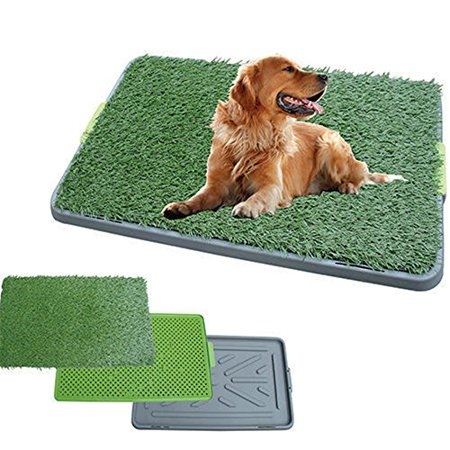 Indoor Outdoor Large 3 Layer Puppy Dog Toilet Training Mat Potty Zoom Park Turf Tray Loo Pad 17