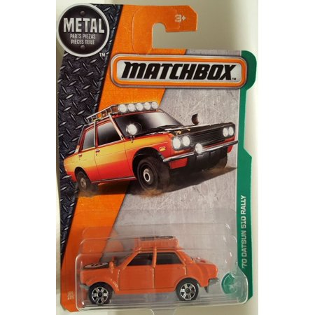 2017 MBX Explorers '70 Datsun 510 Rally 94/125, Orange, 1:64 scaled die-cast vehicle. By