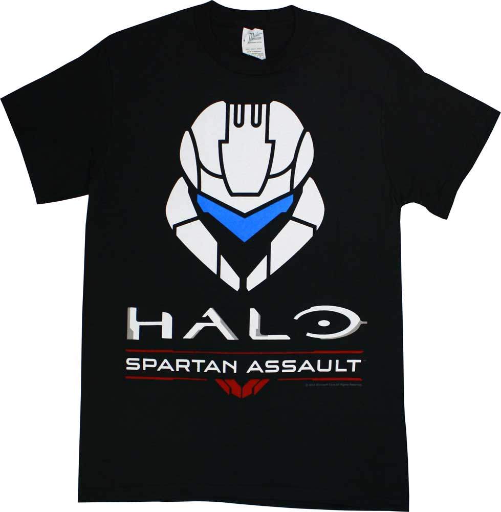 Halo: Spartan Assault Icon Men's Black T-Shirt