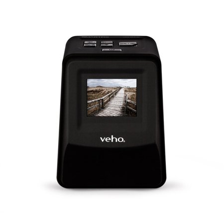 Veho Smartfix Portable Stand Alone 14 Megapixel Negative Film and Slide Scanner with 2.4in Digital Screen and 135 Slider Tray for 135/110/126 Negatives, Compatible with Mac/PC, Black (VFS-014-SF) (Negative To Pc)