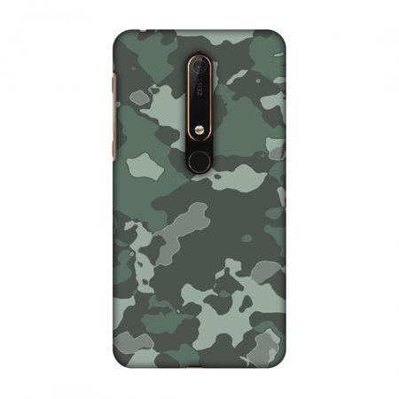 huge selection of 99614 35ac4 New Nokia 6 2018 Case - Camou- Amazon green, Hard Plastic Back Cover, Slim  Profile Cute Printed Designer Snap on Case with Screen Cleaning Kit