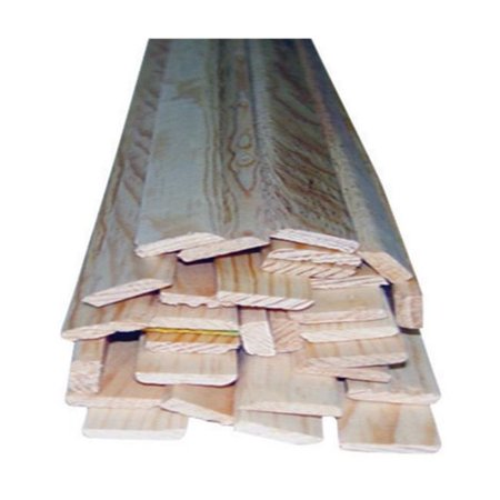 Alexandria Moulding Moulding Solid Pine 3 ft. H x 0.25 in. W x 0.75 in. D