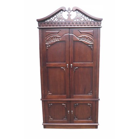 D Art Carved Top Armoire