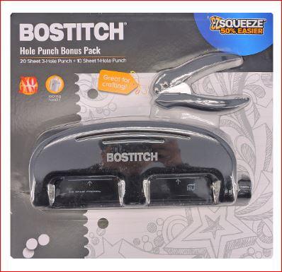 Bostitch EzSqueeze Hole Punch Bonus Pack