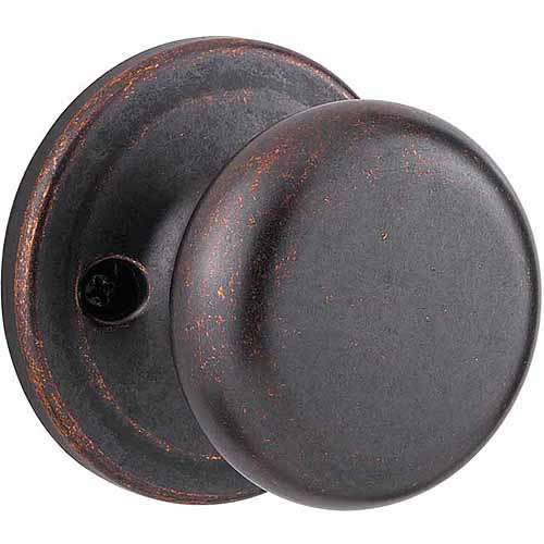 Kwikset Rustic Bronze Juno Bed and Bath Privacy Knob
