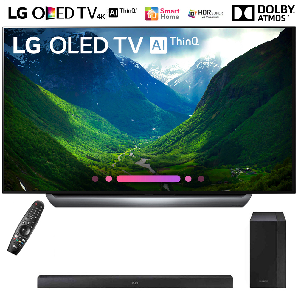 "LG OLED65C8PUA 65""-Class C8 OLED 4K HDR AI Smart TV (2018 Model) with Samsung 200W 2.1ch Soundbar w/ Wireless Subwoofer"