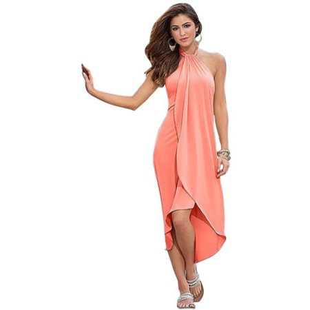 fd7401070b Women Summer Bandeau Boho Long Maxi Dress Sleeveless Evening Cocktail Party  Loose Beach Sundress - Walmart.com