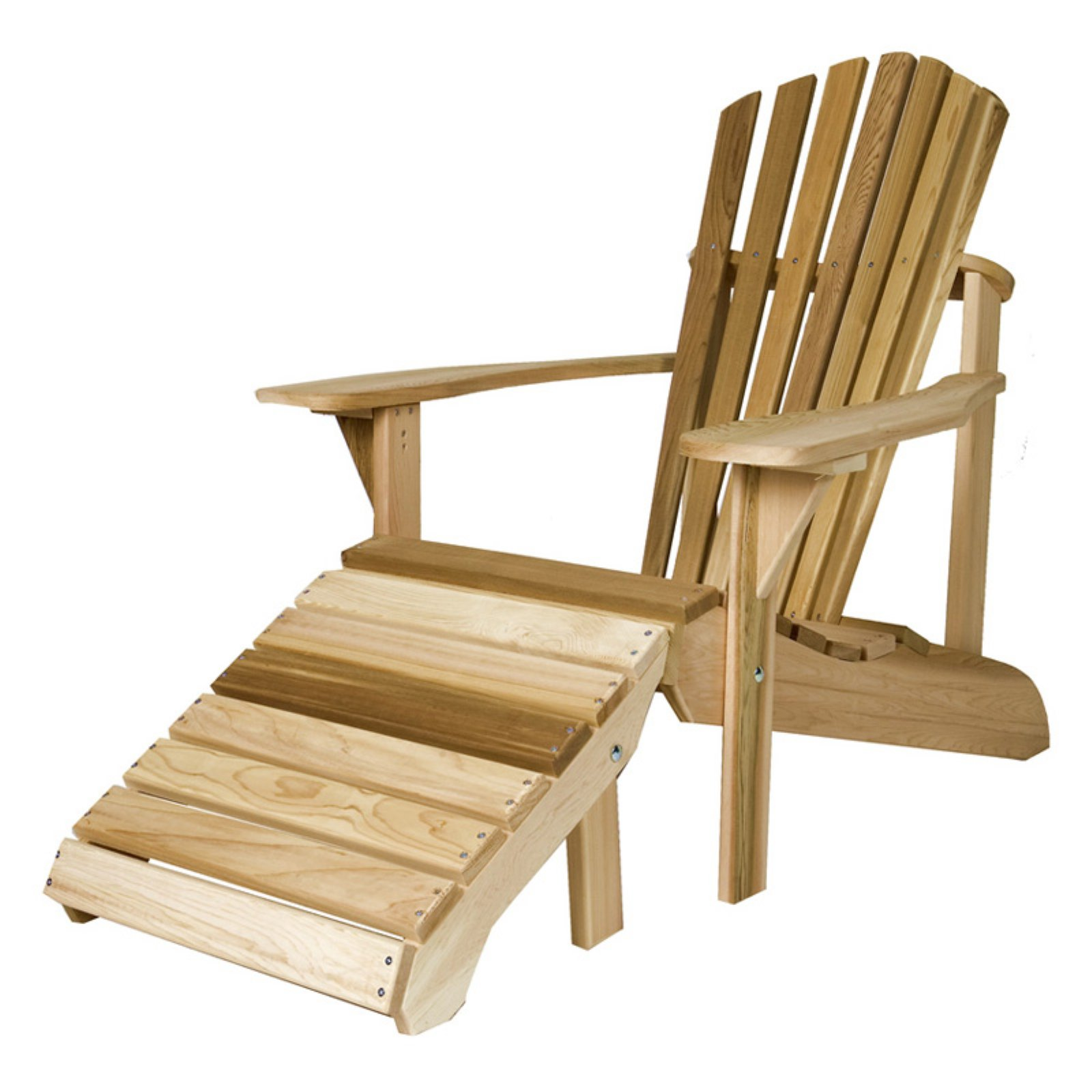 All Things Cedar Adirondack Chair with Ottoman