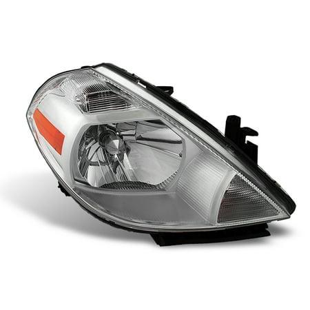 Versa Head (Fits 07-12 Versa Amber Chrome Clear Headlights Passenger/Right Side)