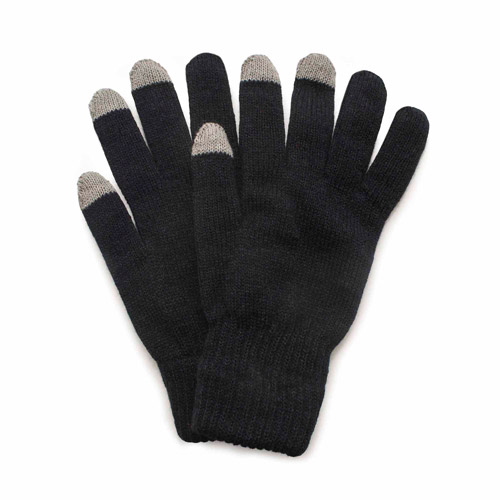QuietWear 2 Layer Knit Glove with Texting Fingers by Reliable of Milwaukee