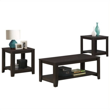 Monarch Table Set 3Pcs Set / Cappuccino - Walmart.com