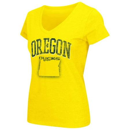 Womens Ncaa Oregon Ducks Short Sleeve Tee Shirt  Team Color