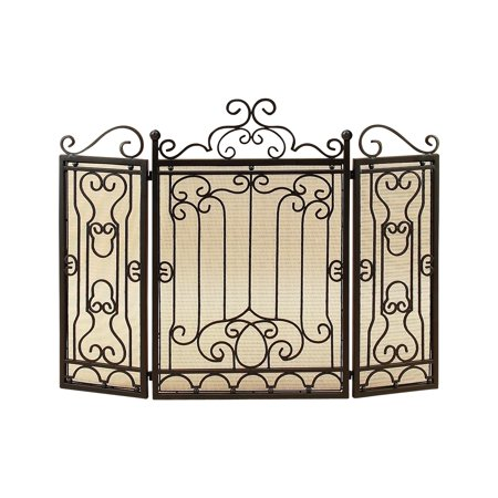 Metal Fire Screen For Complete Safety At Fire (Fox Fireplace Screen)