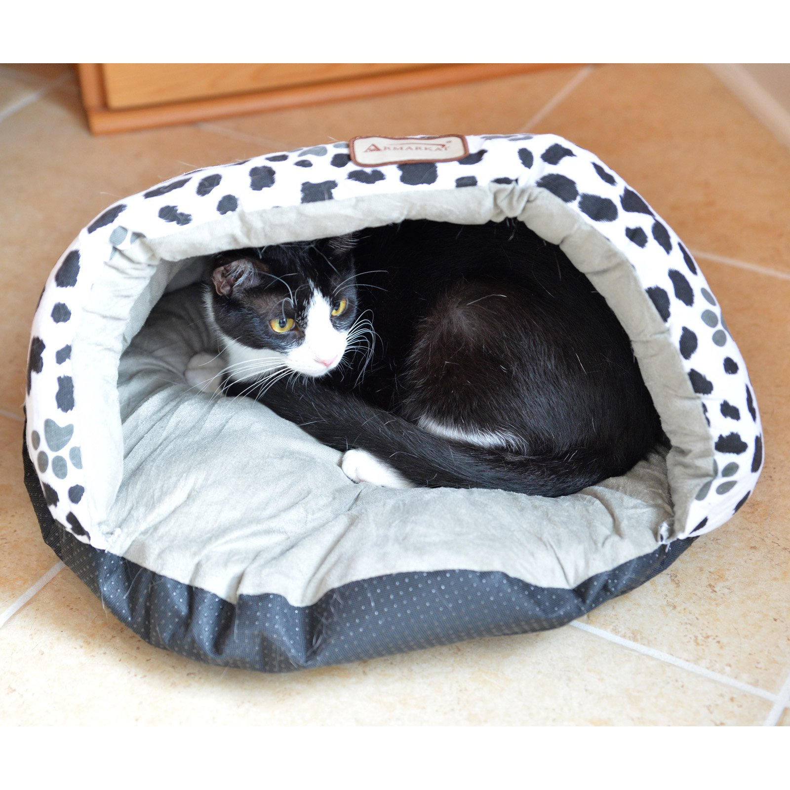 Armarkat Paw Print Cat Bed Size, 20-Inch by 11-Inch, C19HZY/HL