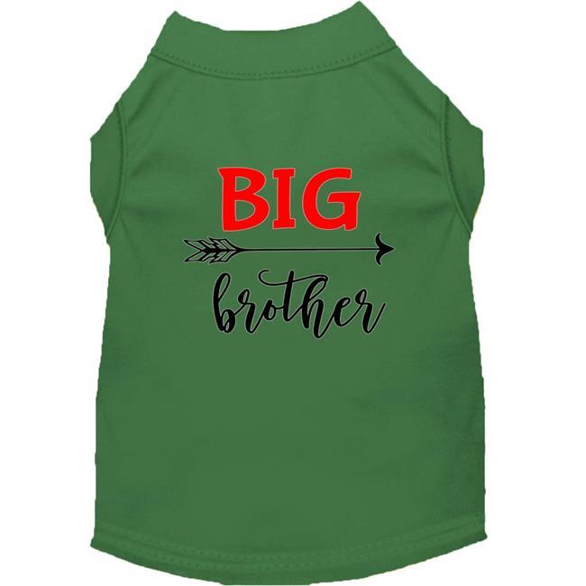 Big Brother Screen Print Dog Shirt Green XL
