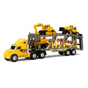 "New Bright 22"" Free Wheel Mega Construction Hauler Set"