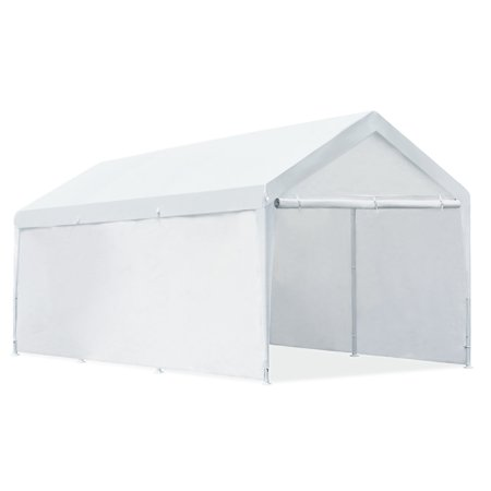 Quictent 20x10 Heavy Duty Portable Carport Canopy Party Tent White ...