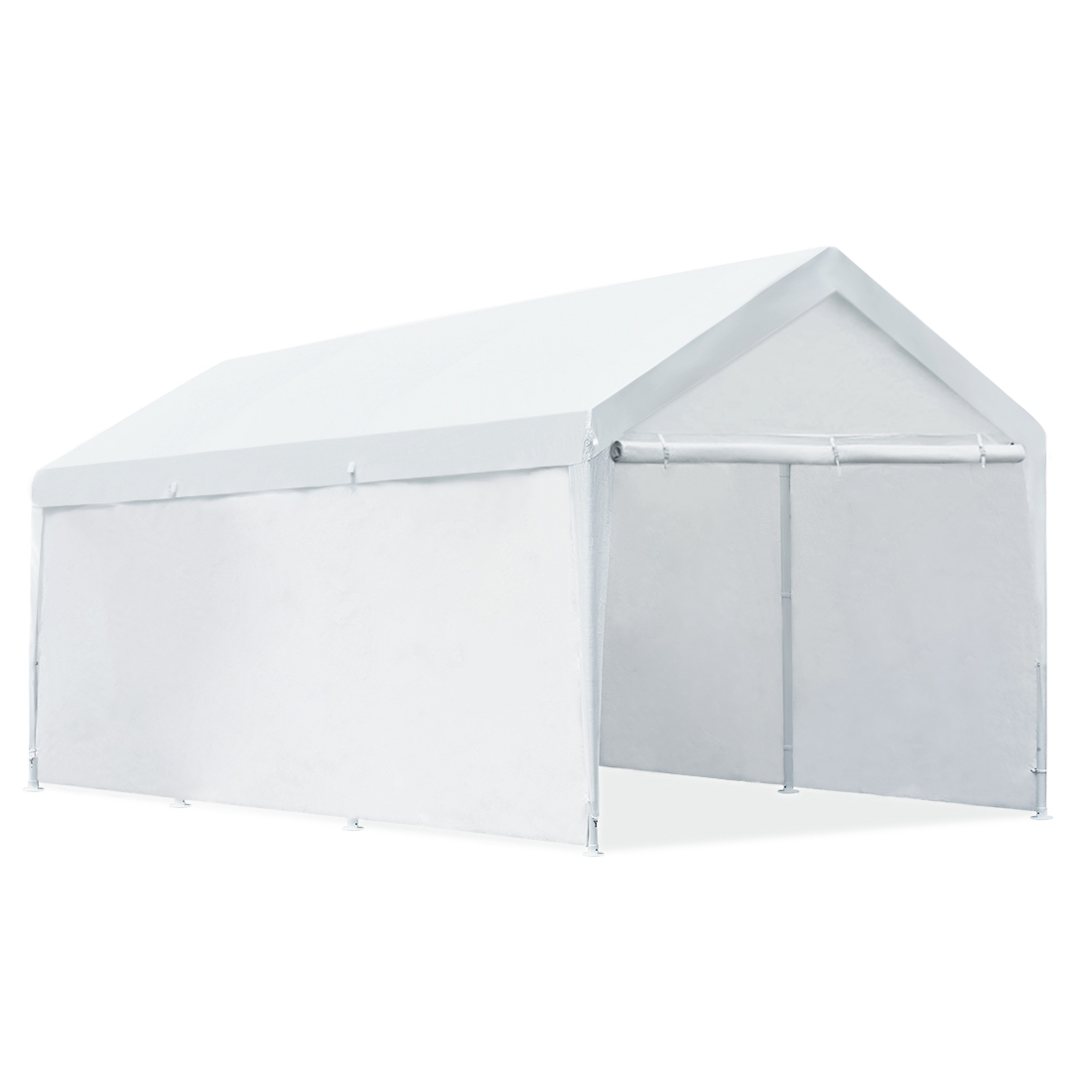 Quictent 20x10 Heavy Duty Portable Carport Canopy Party Tent White (1101)