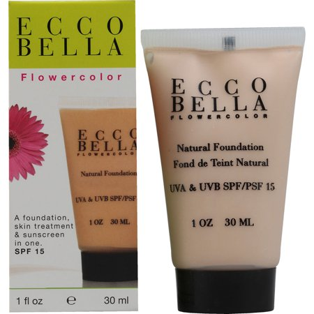 Ecco Bella Flower Color Natural Liquid Face Foundation Bisque With Uva And Uvb Spf 15 - 1 Oz ()