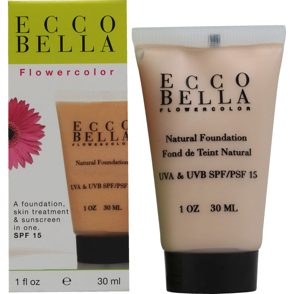 Ecco Bella Flower Color Natural Liquid Face Foundation Bisque With Uva And Uvb Spf 15 - 1 Oz