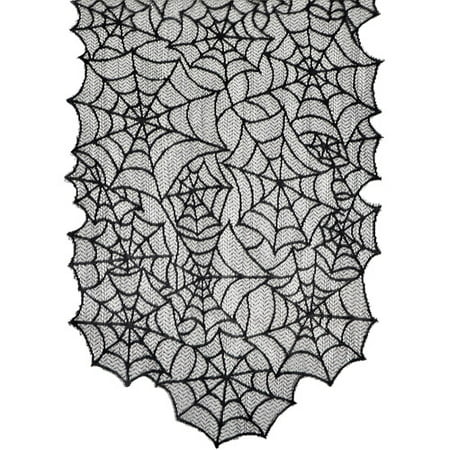 Generic Spider Web Lace Table Runner Halloween Decoration (Halloween Food Table Ideas)