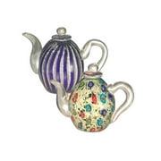 Dale Tiffany Favrile Art Glass Teapot Set