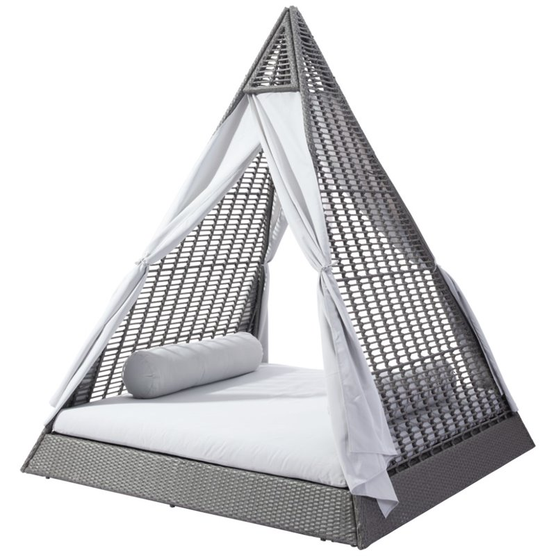 Zuo Albany Patio Daybed in Gray