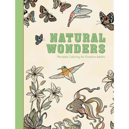 Natural Wonders Adult Coloring Book Portable For Creative Adults