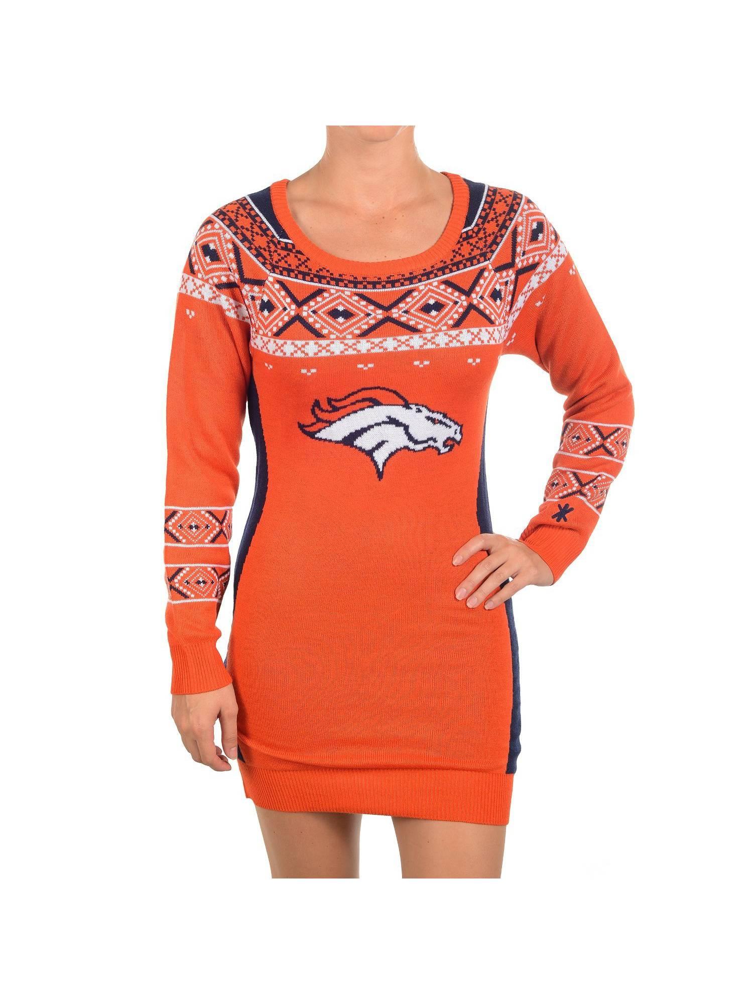 b46d98e8 NFL Football 2015 Womens Big Logo Sweater Dress - Denver Broncos ...
