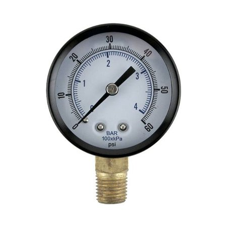 Honda Gauge (Low Pressure Replacement Gauge - Right Hand Thread, This low pressure gauge can replace any damaged gauge for the majority of regulator manufacturers. By Micro Matic )