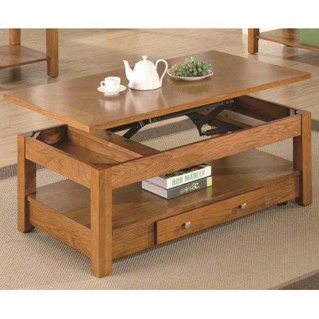 Coaster Lift Top Coffee Table An Oak Veneer Finish