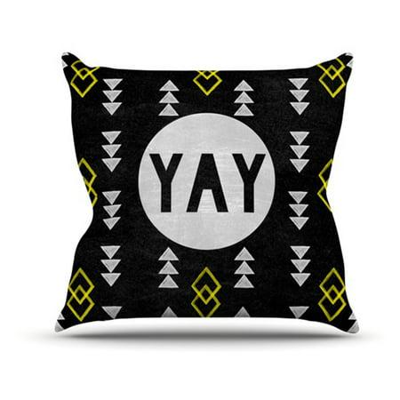 Kess Inhouse Skye Zambrana Yay Indoor Outdoor Throw Pillow