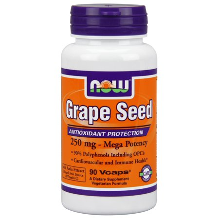 NOW Foods Grape Seed Extract 250Mg 90 Vegetable Capsules