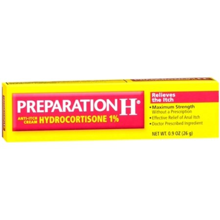 Preparation H Anti-Itch Crème hydrocortisone 1% 0,90 oz (Pack de 4)