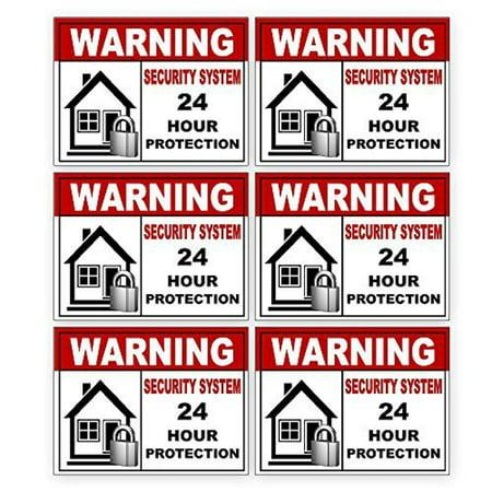 6 Warning Video Surveillance Security Alarm System Sticker Sign Indoor/Outdoor