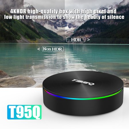 T95Q Android 8.1 Amlogic S905X2 Quad Core 4GB DDR4 64GB EMMC BT4.1 Smart UHD 4K Set Top Box VP9 H.265 2.4G & 5G Dual-band WiFi 1000M USB3.0 LAN HD - image 2 de 7